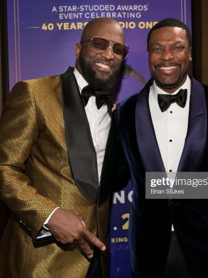 OXON HILL, MARYLAND - DECEMBER 05: Rickey Smiley and Chris Tucker attend 2019 Urban One Honors at MGM National Harbor on December 05, 2019 in Oxon Hill, Maryland. (Photo by Brian Stukes/WireImage)